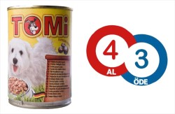 Tomi - Tomi 3 Çeşit Kümes Hayvanlı Köpek Konservesi 400 GR * 4 Adet