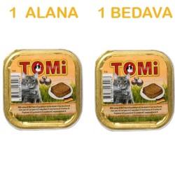 Tomi - Tomi Hindili Kedi Konservesi 100 Gr ( 1 Alana 1 Bedava )