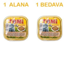Tomi - Tomi Kaz Ciğerli Kedi Konservesi 100 Gr ( 1 Alana 1 Bedava )