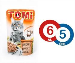 Tomi - Tomi Kazlı Ve Ciğerli Yaş Kedi Maması 100Gr (6 Al 5 Öde)