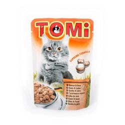 Tomi - Tomi Kazlı Ve Ciğerli Yaş Kedi Maması 100Gr