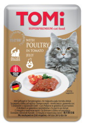 Tomi - Tomi Kedi Tahılsız Domatesli Tavuklu Yaş Mama 100 Gr