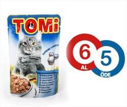Tomi - Tomi Somonlu Ve Alabalıklı Yaş Kedi Maması 100Gr 6 Al 5 Öde