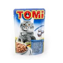 Tomi - Tomi Somonlu Ve Alabalıklı Yaş Kedi Maması 100Gr