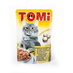 Tomi - Tomi Tavşanlı Ve Kanatlı Yaş Kedi Maması 100Gr