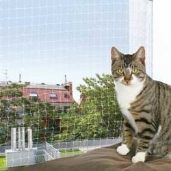Trixie - Trixie Kedi Cam Koruma Ağı 4X3M, Transparan