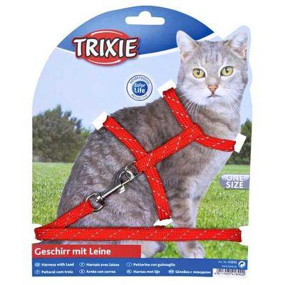 Trixie Kedi Göğüs Tasma Seti Fosforlu 18-35cm/10mm