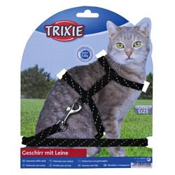 Trixie Kedi Göğüs Tasma Seti Fosforlu 18-35cm/10mm - Thumbnail