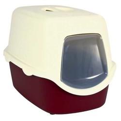 Trixie - Trixie Kedi Kapalı Tuvaleti,40X40X56cm,Bordo/Krem
