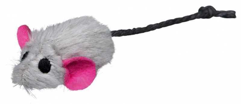 Trixie Kedi Oyuncağı Kedi Otlu Peluş Fare 5cm 6 Ad