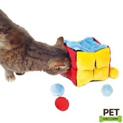 Trixie Kedi Peluş Oyuncak Küp Ve Topları - Thumbnail