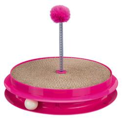 Trixie - Trixie Kedi Tırmalama Oyuncağı, Ø35cmx7cm, Pembe