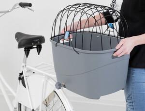 Trixie Plastik ve Metal Köpekler İçin Bisiklet Arkası Sepeti 36x47x46 cm Gri - Thumbnail