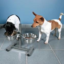 Trixie Köpek Mama&Su Kabı,Ayaklı, 2×1,8 L/Ø 20cm - Thumbnail