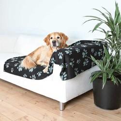 Trixie - Trixie Köpek Polar Battaniye 150X100cm Siyah&Gri