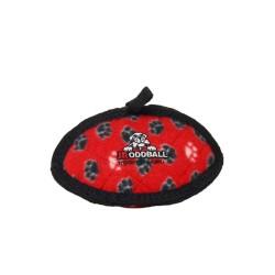 Tuffy - Tuffy Pati Desenli Top Köpek Oyuncağı (Kırmızı)