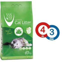 VanCat - Vancat Aloe Veralı İnce Taneli Topaklanan Kedi Kumu 10 KG * 4 ADET