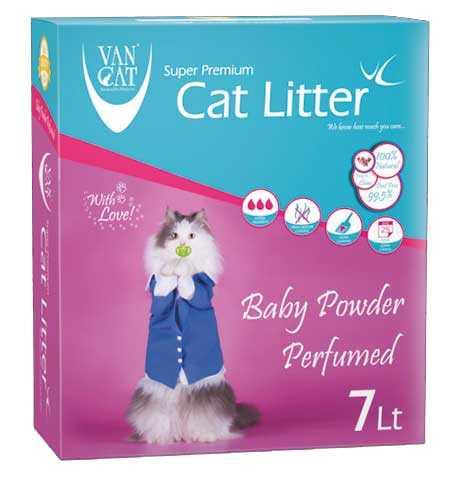Vancat Baby Powder Kokulu İnce Taneli Topaklanan Kedi Kumu 7 LT