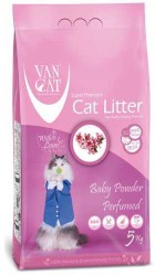 VanCat - VanCat Baby Powder Topaklanan İnce Taneli Kedi Kumu 5 KG