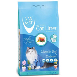 VanCat - VanCat Marsilya Sabunlu İnce Taneli Topaklanan Kedi Kumu 5 KG