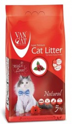 VanCat - Vancat Natural Topaklanan İnce Taneli Kedi Kumu 5 KG