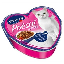 Vitakraft - Vitakraft Poesie Domatesli Balıklı Yaş Kedi Maması 85 Gr