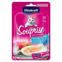 Vitakraft - Vitakraft Somonlu Sıvı Kedi Ödül Çorbası 4 x 20 Gr