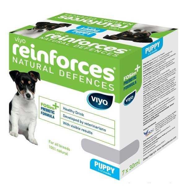 Viyo Reinforces Puppy Dog Yavru Köpek Ek Besin Tavsiyesi 7*30 ML