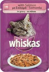 Whiskas - Whiskas Kedi Yaş Maması Somon Balıklı 100 GR